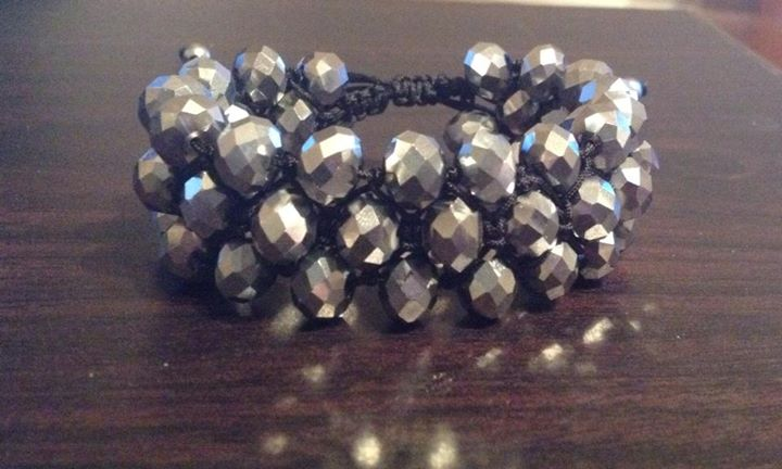 Shamballa triple brillant gris
