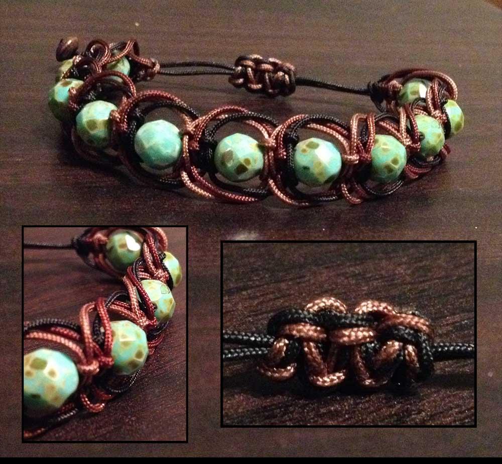 Shamballa brun turquoise