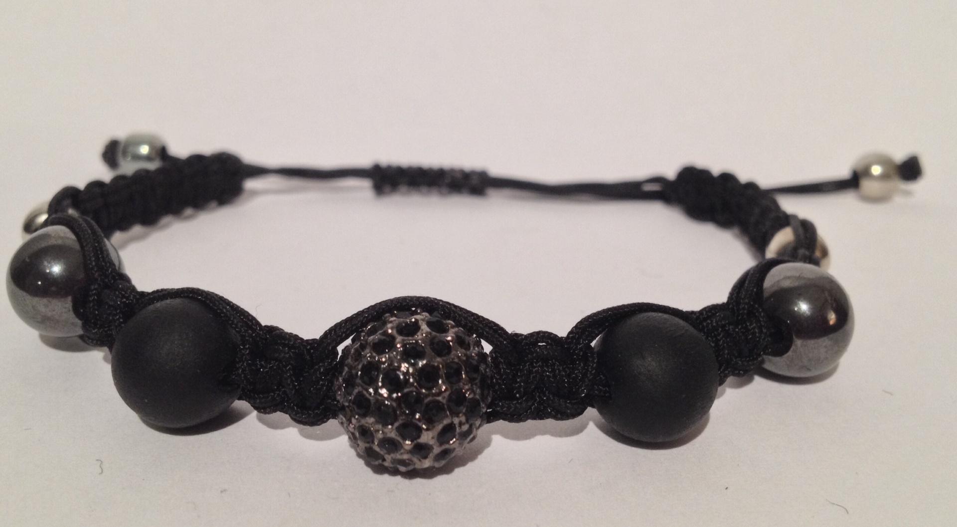 Shamballa hematite brillant noir